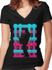 Coltrane Women's Fitted V-Neck T-Shirt