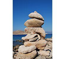 Ftenegia stone tower, Halki Photographic Print