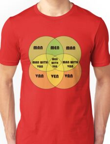 Men With Ven Venn diagram Unisex T-Shirt