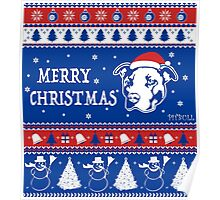 Merry Pitmas Christmas Sweater Design Gift for Pit Lovers Poster
