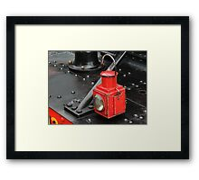 Steam Train Lamp Framed Print