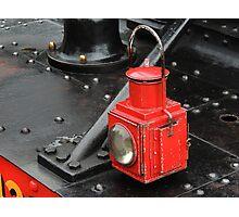 Steam Train Lamp Photographic Print