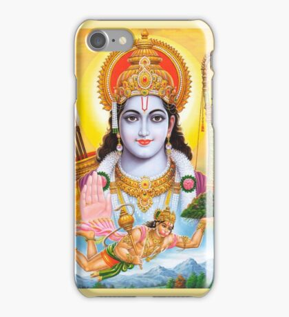 Lord Shri Rama, Rama Krishna, Hindu Oriental Indian art iPhone Case/Skin