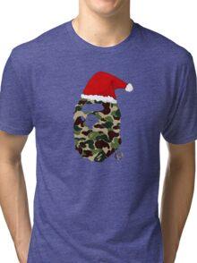 Christmas CAMO BAPE Tri-blend T-Shirt