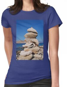 Ftenegia stone tower, Halki Womens Fitted T-Shirt