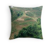 Sapa / Lao Chai Vietnam Paddy fields in the mountains. Throw Pillow