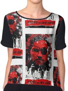 Escape from New York Chiffon Top