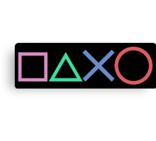 Playstation Buttons Canvas Print
