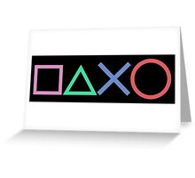 Playstation Buttons Greeting Card