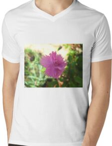 Mini Carnation Mens V-Neck T-Shirt