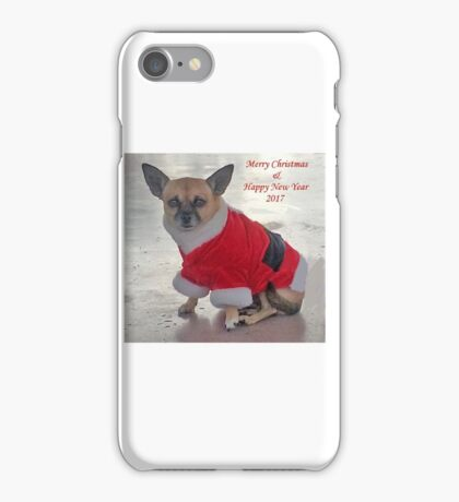 MERRY CHRISTMAS AND HAPPY NEW YEAR 2017 iPhone Case/Skin
