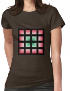 Blocks Gradient - Green | White | Red | Black Womens Fitted T-Shirt