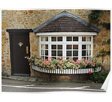 Bow Window With Geraniums Poster