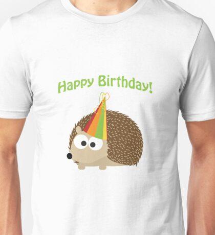 Happy Birthday! Hedgehog Unisex T-Shirt