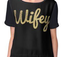 Wifey - gold glitter Chiffon Top