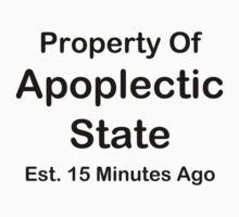 Property Of Apoplectic State Kids Tee