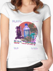 Vaporwave Fiji Bottle Women's Fitted Scoop T-Shirt