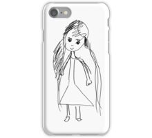 little Girl- child's drawing iPhone Case/Skin