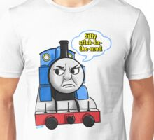"Cheeky Thomas says ""Stick-in-the-mud!"" Unisex T-Shirt"