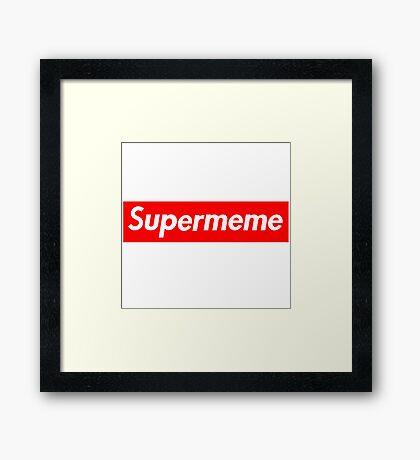 Super Meme Framed Print