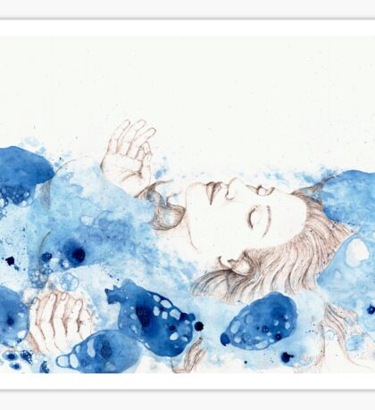 My Ophelia - Meditation on Water Sticker