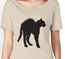 angry cat - black cat - trending cat Women's Relaxed Fit T-Shirt