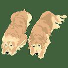 2 Golden Retrievers by VieiraGirl