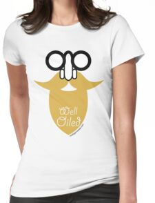 Well Oiled Blond Beard Womens Fitted T-Shirt