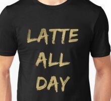 Latte All Day (Glitter Gold) Unisex T-Shirt
