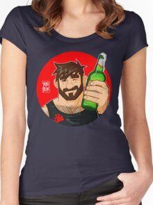 ADAM LIKES BEER Women's Fitted Scoop T-Shirt
