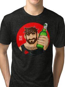 ADAM LIKES BEER Tri-blend T-Shirt