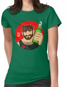 ADAM LIKES BEER Womens Fitted T-Shirt