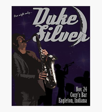 Duke Silver Photographic Print