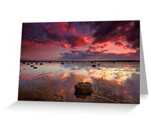 Long Reef Sunrise Greeting Card