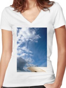 conceptual blue Women's Fitted V-Neck T-Shirt