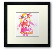 little Princess - child's drawing Framed Print