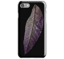 Purple and Green Leaf iPhone Case/Skin