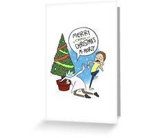 Christmas Rick and Morty Greeting Card