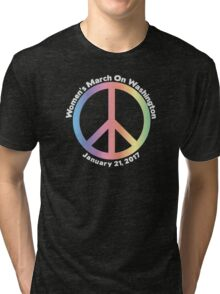 Women's March On Washington Peace Sign Tri-blend T-Shirt