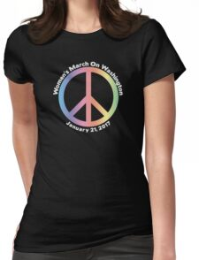 Women's March On Washington Peace Sign Womens Fitted T-Shirt