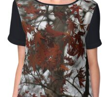 Red Japanese Maple Chiffon Top