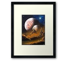 SciFi Novel Cover Framed Print