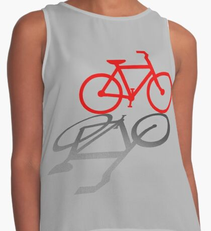 Bicycle and Shadow Contrast Tank