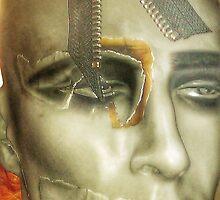 Punk collage man by cherylkerkin