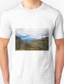 Cloudy City on the Hill - Travel Photography Unisex T-Shirt