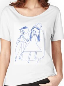 Boy and girl - child's drawing Women's Relaxed Fit T-Shirt