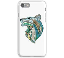 Vintage wolf head with colorful ethnic ornament iPhone Case/Skin