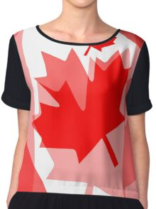 A Canadian Flag Wave Chiffon Top
