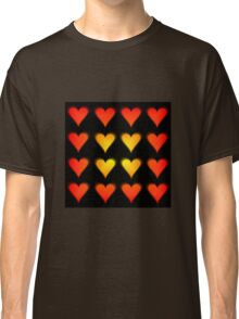 Hearts Gradient - Yellow | Orange | Red | Black Classic T-Shirt