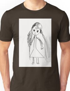 little Girl- child's drawing Unisex T-Shirt